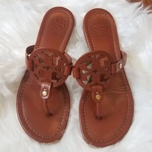 Tory Burch Miller Vintage Vachetta Leather Sandals